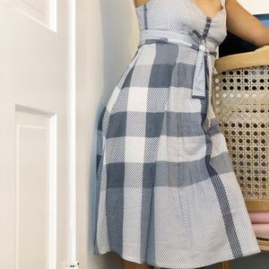 Burberry Gray 100% Cotton Dress